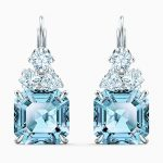 sparkling-pierced-earrings–aqua–rhodium-plated-swarovski-5524139