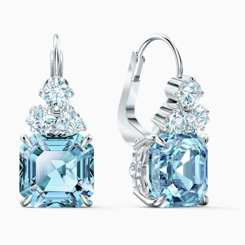 sparkling-pierced-earrings–aqua–rhodium-plated-swarovski-5524139z